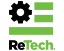 ReTech Brand Logo Vector Small Fuel Pump