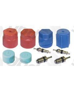 Global Parts Distributors 1311575 A/C System Valve Core and Cap Kit