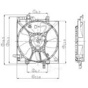 Global Air 2811291 Engine Cooling Fan Assembly