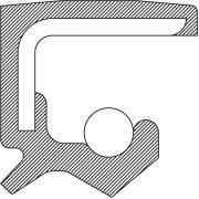 National Bearings 222028 Power Steering Pump Shaft Seal