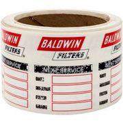 Baldwin PKG50 Service Reminder Decal